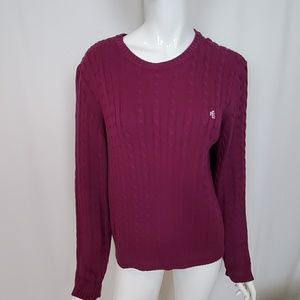 Lauren Ralph Lauren Purple Cotton Cable Sweater